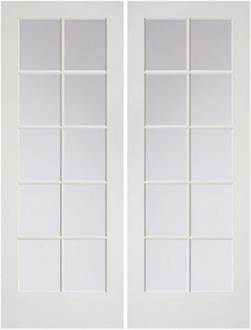WDMA 48x80 Door (4ft by 6ft8in) French Pine 80in Primed Double Door | 1510 1