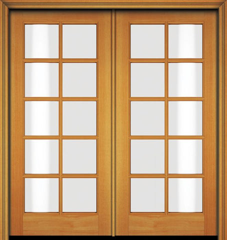 WDMA 48x80 Door (4ft by 6ft8in) French Fir 80in 10 Lite Double Door 1