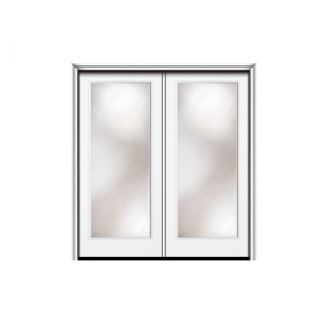 WDMA 48x80 Door (4ft by 6ft8in) Patio Swing Smooth Nova 90 Modern 1 Lite Low E Direct Glazed Double Door - Non Impact 1