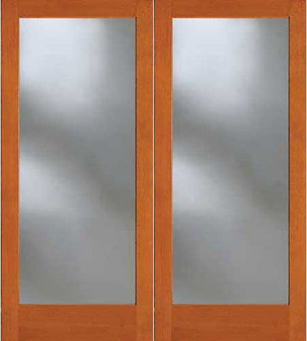 WDMA 48x80 Door (4ft by 6ft8in) French Fir 7001 Full Lite Exterior Double Door 1