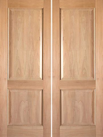 WDMA 48x80 Door (4ft by 6ft8in) Interior Swing Tropical Hardwood Rustic-3 2 Panel Double Door 1