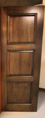 WDMA 48x80 Door (4ft by 6ft8in) Interior Swing Tropical Hardwood Rustic-4 3 Panel Double Door 2