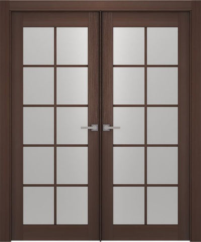 WDMA 48x80 Door (4ft by 6ft8in) Interior Barn Wenge Prefinished Maya 10 Lite Modern Double Door 1