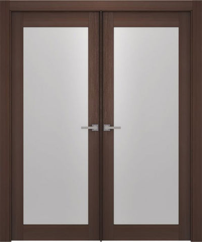 WDMA 48x80 Door (4ft by 6ft8in) Interior Barn Wenge Prefinished Maya 700 Modern Double Door 1