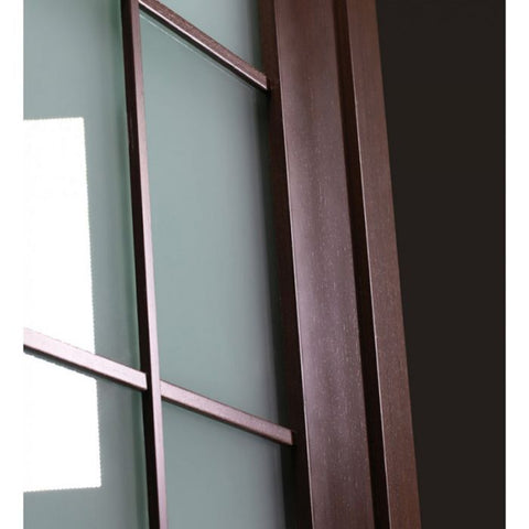 WDMA 48x80 Door (4ft by 6ft8in) Interior Barn Wenge Prefinished 10 Lite French Modern Double Door 7
