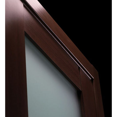 WDMA 48x80 Door (4ft by 6ft8in) Interior Barn Wenge Prefinished 1 Lite French Modern Double Door 6