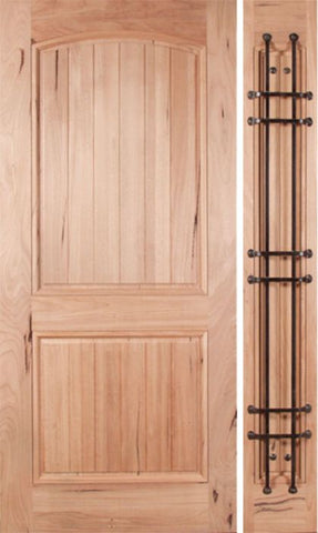 WDMA 48x80 Door (4ft by 6ft8in) Exterior Walnut Rustica Single Door/1side 1