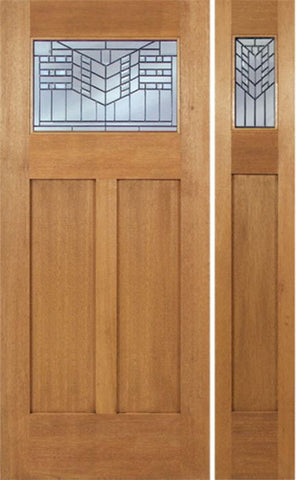 WDMA 48x80 Door (4ft by 6ft8in) Exterior Mahogany Pearce Single Door/1side w/ E Glass 1