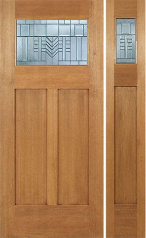WDMA 48x80 Door (4ft by 6ft8in) Exterior Mahogany Pearce Single Door/1side w/ C Glass 1