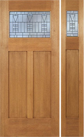 WDMA 48x80 Door (4ft by 6ft8in) Exterior Mahogany Pearce Single Door/1side w/ B Glass 1