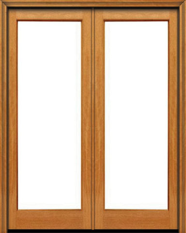 WDMA 48x96 Door (4ft by 8ft) Patio Mahogany 96in 1 lite French Double Door IG Glass 1