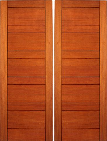 WDMA 48x96 Door (4ft by 8ft) Exterior Mahogany Flush Double Door Contemporary Design 1
