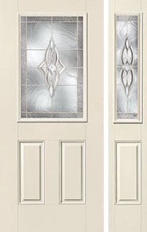 WDMA 50x80 Door (4ft2in by 6ft8in) Exterior Smooth Wellesley Half Lite 2 Panel Star Door 1 Side 1