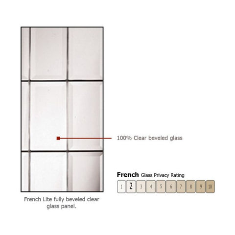 WDMA 50x80 Door (4ft2in by 6ft8in) Exterior Knotty Alder 36in x 80in Full Lite French Alder Door /1side 2