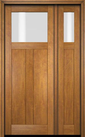 WDMA 51x80 Door (4ft3in by 6ft8in) Exterior Swing Mahogany Top Lite Craftsman Single Entry Door Sidelight 1