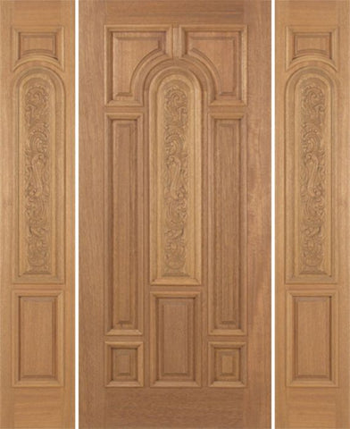 WDMA 54x80 Door (4ft6in by 6ft8in) Exterior Mahogany Revis Single Door/2side Carved Panel - 6ft8in Tall 1