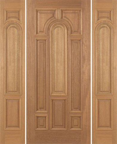 WDMA 54x80 Door (4ft6in by 6ft8in) Exterior Mahogany Revis Single Door/2side Plain Panel - 6ft8in Tall 1