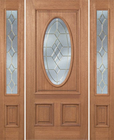 WDMA 54x80 Door (4ft6in by 6ft8in) Exterior Mahogany Maryvale Single Door/2side w/ A Glass 1