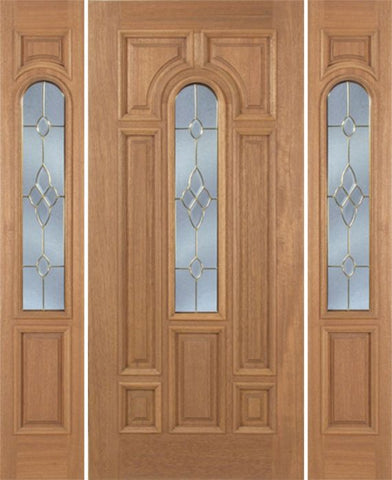 WDMA 54x80 Door (4ft6in by 6ft8in) Exterior Mahogany Revis Single Door/2side w/ C Glass - 6ft8in Tall 1