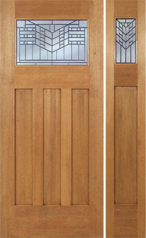 WDMA 54x80 Door (4ft6in by 6ft8in) Exterior Mahogany Biltmore Single Door/1side w/ E Glass 1