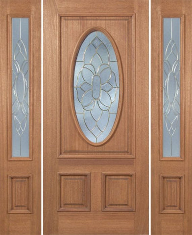 WDMA 54x80 Door (4ft6in by 6ft8in) Exterior Mahogany Maryvale Single Door/2side w/ BO Glass 1