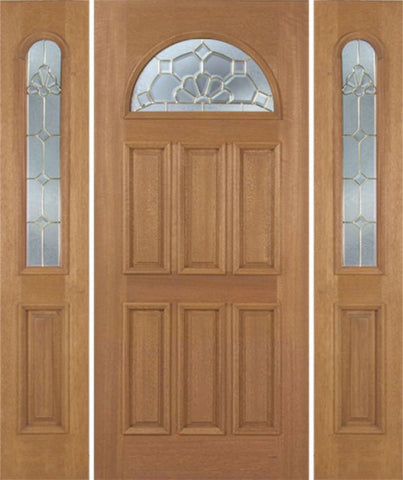 WDMA 54x80 Door (4ft6in by 6ft8in) Exterior Mahogany Jefferson Single Door/2side w/ A Glass 1