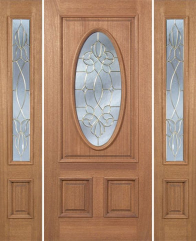 WDMA 54x80 Door (4ft6in by 6ft8in) Exterior Mahogany Maryvale Single Door/2side w/ CO Glass 1
