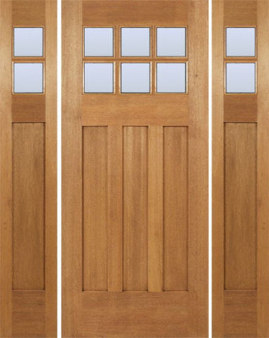 WDMA 54x80 Door (4ft6in by 6ft8in) Exterior Mahogany Randall Single Door/2side w/ DB Glass 1