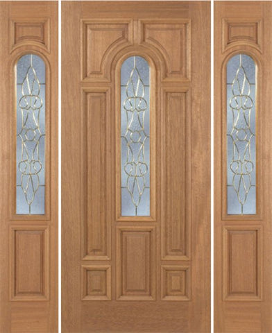 WDMA 54x80 Door (4ft6in by 6ft8in) Exterior Mahogany Revis Single Door/2side w/ OL Glass - 6ft8in Tall 1
