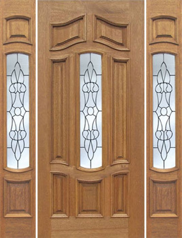 WDMA 54x80 Door (4ft6in by 6ft8in) Exterior Mahogany Palisades Single Door/2side w/ L Glass 1