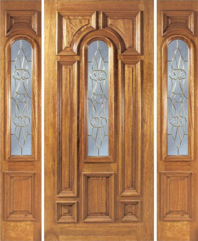 WDMA 54x80 Door (4ft6in by 6ft8in) Exterior Mahogany Ironbark Single Door/2side w/ OL Glass 1