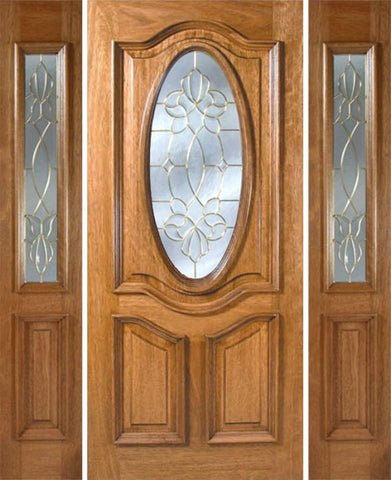 WDMA 54x80 Door (4ft6in by 6ft8in) Exterior Mahogany La Jolla Single Door/2side w/ CO Glass - 6ft8in Tall 1