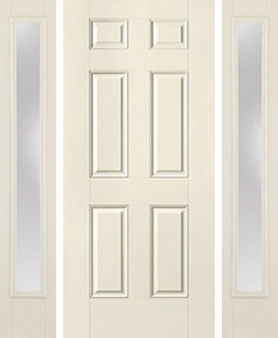 WDMA 54x80 Door (4ft6in by 6ft8in) Exterior Smooth 6 Panel Star Door 2 Sides Clear 1