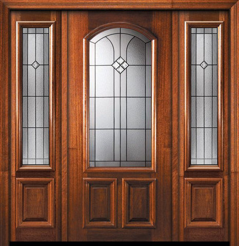 WDMA 56x80 Door (4ft8in by 6ft8in) Exterior Mahogany 80in Cantania Arch Lite Door /2side 1