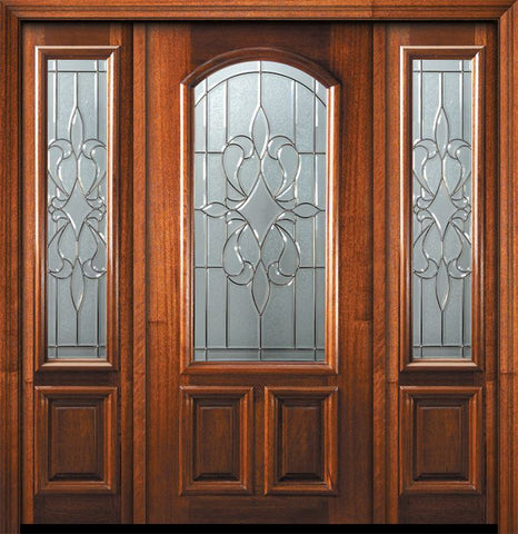 WDMA 56x80 Door (4ft8in by 6ft8in) Exterior Mahogany 80in New Orleans Arch Lite Door /2side 1