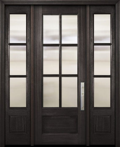 WDMA 56x96 Door (4ft8in by 8ft) Exterior Mahogany 96in 3/4 Lite 6 Lite SDL DoorCraft Door /2side 1
