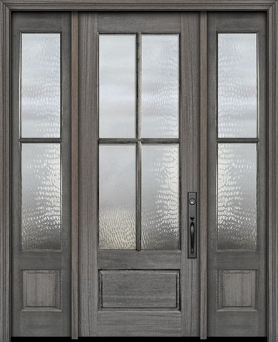 WDMA 56x96 Door (4ft8in by 8ft) Exterior Mahogany 96in 3/4 Lite 4 Lite SDL DoorCraft Door /2side 1