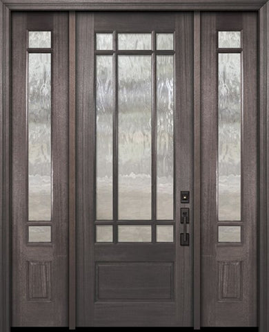 WDMA 56x96 Door (4ft8in by 8ft) Exterior Mahogany 96in 3/4 Lite Marginal 9 Lite SDL DoorCraft Door /2side 1