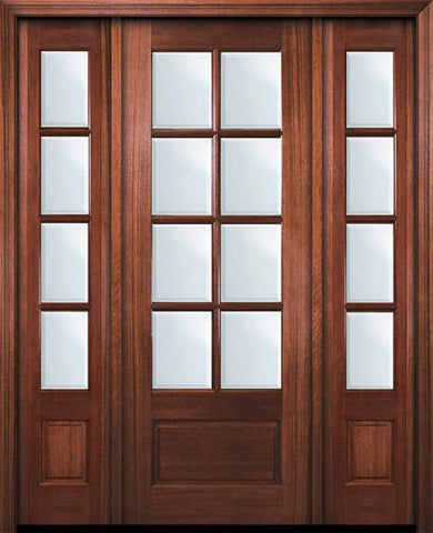 WDMA 56x96 Door (4ft8in by 8ft) Patio Mahogany 96in 8 Lite TDL DoorCraft Door /2side w/Bevel IG 1