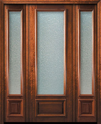 WDMA 56x96 Door (4ft8in by 8ft) French Mahogany 96in 3/4 Lite Portobello Door /2side 1
