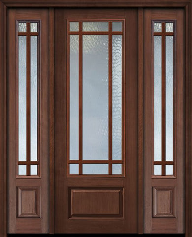 WDMA 56x96 Door (4ft8in by 8ft) Patio Cherry 96in 3/4 Lite Prairie 9 Lite SDL Door /2side 1