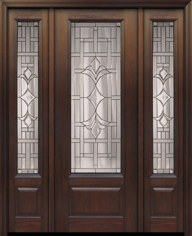 WDMA 56x96 Door (4ft8in by 8ft) Exterior Cherry 96in 1 Panel 3/4 Lite Marsala Walnut / Door /2side 1