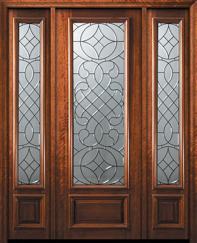 WDMA 56x96 Door (4ft8in by 8ft) Exterior Mahogany 96in 3/4 Lite Savoy Door /2side 1