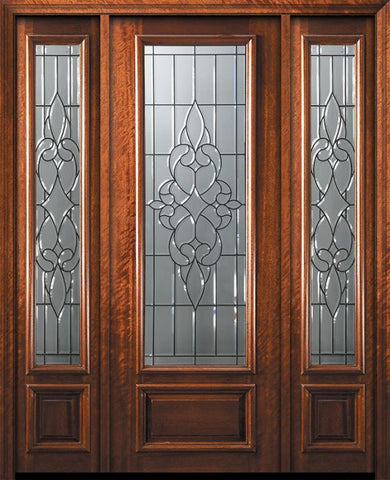 WDMA 56x96 Door (4ft8in by 8ft) Exterior Mahogany 96in 3/4 Lite Courtlandt Door /2side 1