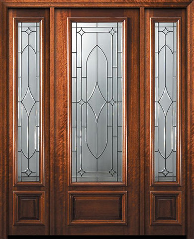 WDMA 56x96 Door (4ft8in by 8ft) Exterior Mahogany 96in 3/4 Lite Bourbon Street Door /2side 1