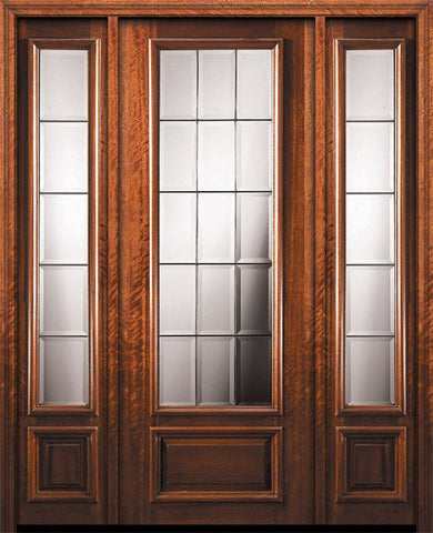 WDMA 56x96 Door (4ft8in by 8ft) Exterior Mahogany 96in 3/4 Lite French Door /2side 1