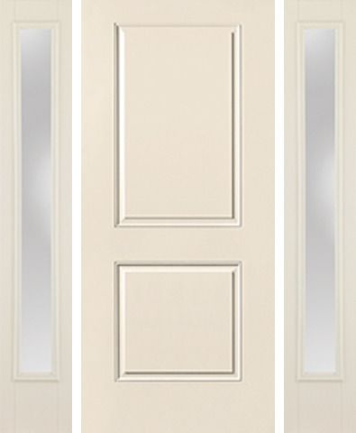 WDMA 58x80 Door (4ft10in by 6ft8in) Exterior Smooth 2 Panel Square Top Star Door 2 Sides Clear 1