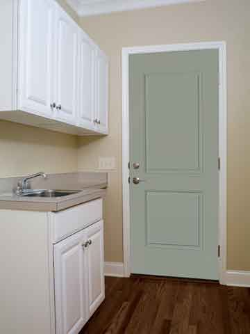WDMA 58x80 Door (4ft10in by 6ft8in) Exterior Smooth 2 Panel Square Top Star Door 2 Sides Clear 2