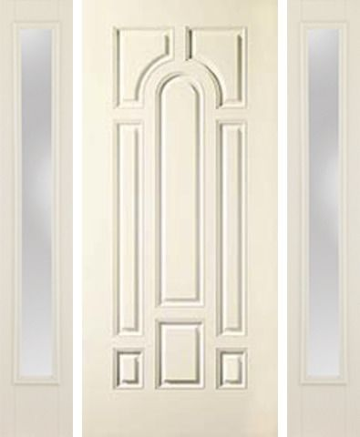 WDMA 58x80 Door (4ft10in by 6ft8in) Exterior Smooth 8 Panel Star Door 2 Sides Clear 1