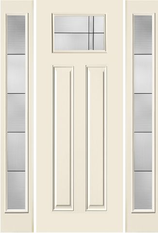 WDMA 58x96 Door (4ft10in by 8ft) Exterior Smooth Axis 8ft Craftsman Lite 2 Panel Star Door 2 sides 1